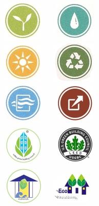 Green building logos 1